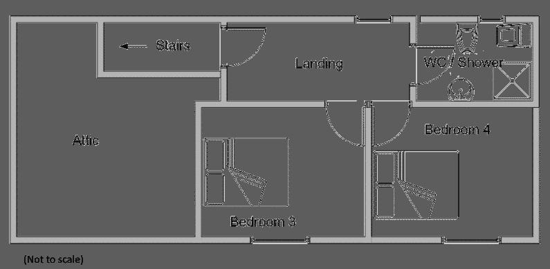 Diagram of first floor room layout for Le Marronnier - delightful-farmhouse-style-gite
