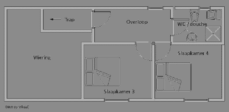 Eerste plattegrond met de kamerindeling van Le Marronnier - heerlijke-gite-in-boerderijstij