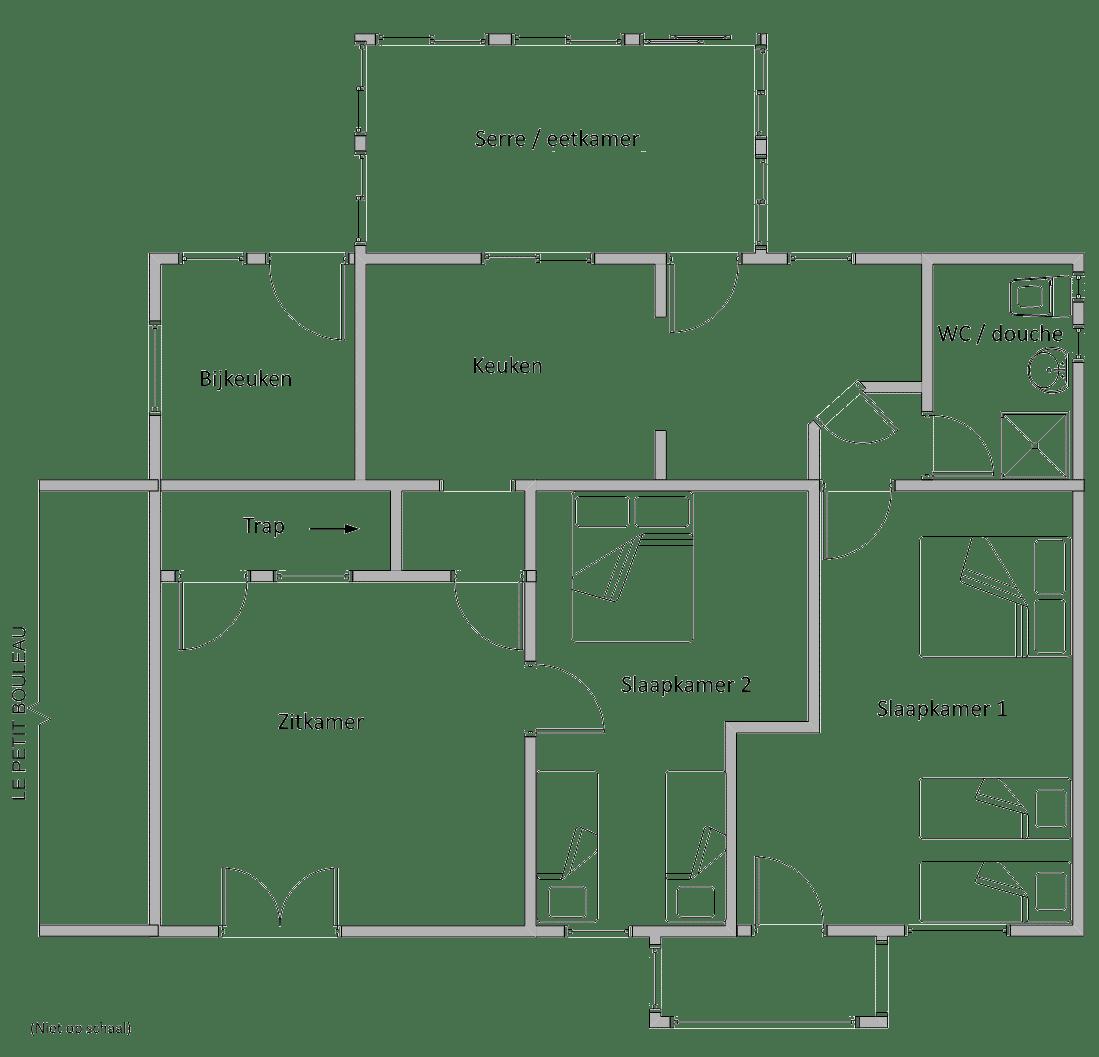 Floor plan showing room layout.